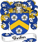Barbier Family Crest, Coat of Arms