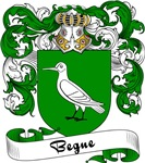Begue Family Crest, Coat of Arms