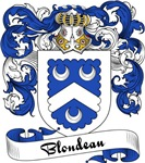 Blondeau Family Crest, Coat of Arms