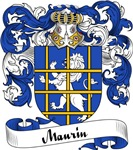 Maurin Family Crest, Coat of Arms