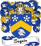Seguin Family Crest, Coat of Arms