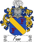 Fano Family Crest, Coat of Arms
