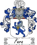 Fera Family Crest, Coat of Arms