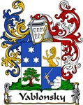 Yablonsky Family Crest, Coat of Arms