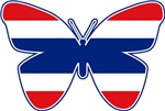 Thai Butterfly Flag Silhouette