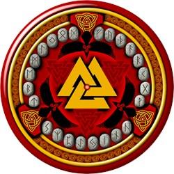 Red Viking Runes