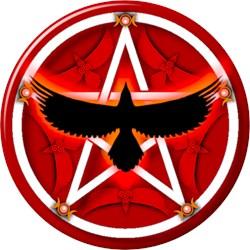 Crow Pentacle - Red