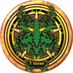 Holly Celtic Greenman Pentacle