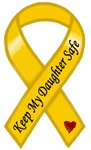 Keep My Daughter Safe Yellow Ribbon