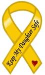 Keep My Daughter Safe Yellow Ribbon