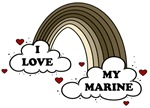 I Love My Marine USMC Rainbow