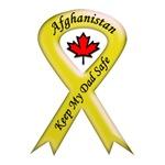 Afghanistan Keep My Dad Safe Ribbon