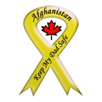 Afghanistan Keep My Dad Safe Ribbon