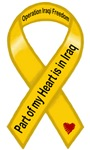 Part of my heart is in Iraq OIF Yellow Ribbon