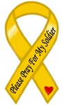 Please Pray For My Soldier Yellow Ribbon