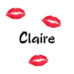 Claire kisses