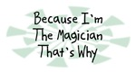 Because I'm The Magician