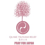 Tsunami Pray for Japan Pink Tree