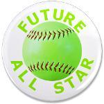 Softball Magnets, Buttons for Kids