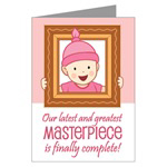 Masterpiece Baby Girl Birth Announcement Cards