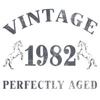 1982 Vintage w/ Horses