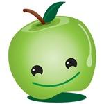 Cutie happy healthy green apple