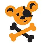 Pirate teddy bear cute