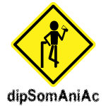 Warning Dipsomaniac funny t-shirts &  gifts