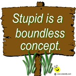 Stupid is a boundless concept.