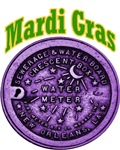 Water Meter Lid Mardi Gras