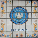 Louisiana Seal Spanish Tile