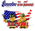 Remember the Heroes Firemand Kitty Amry kitty 9-11
