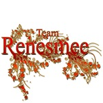 Team Renesmee floral Red Gold
