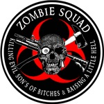 Zombie Squad 3 Ring Patch outlined