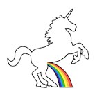 Unicorn Rainbow Wee
