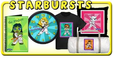 Karate Girls Colorful Starbursts