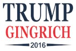 Trump Gingrich 2016