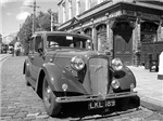 Classic car and English Pub  scene