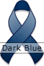 Dark Blue Ribbon for Interstitial Cystitis Awareness Day