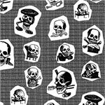 Woodcut skulls