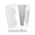 Outline Sketch Accordion