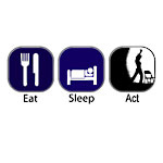Eat Sleep Act T-Shirts