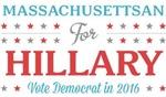Massachusettsan for Hillary