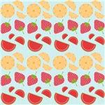 Strawberries, Oranges, and Watermelon Fruit Art