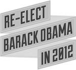 Angular Re-Elect Obama Gray Banneresque Tee Shirts