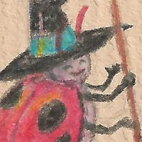 Six-spotted Micro-witch (& broom)