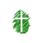 Pretty green christian cross 5 U I