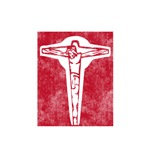 Pretty red christian cross 2 L p
