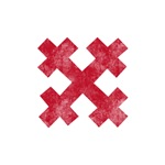Pretty red christian cross 3 U N