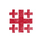 Pretty red christian cross 3 U P